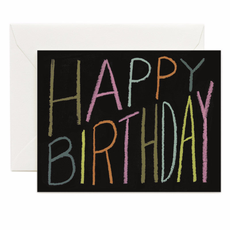 Happy Birthday Crayon Card - Northlight Homestore