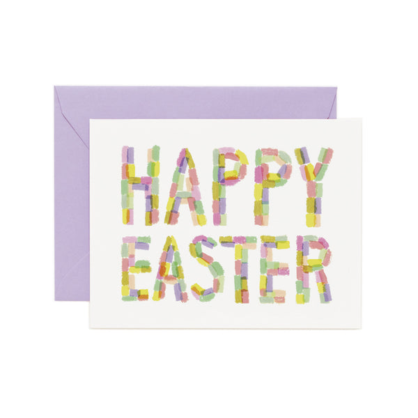 Happy Easter Color Block Card