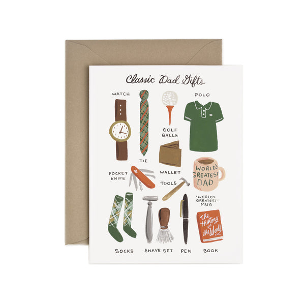 Classic Dad Gifts Card