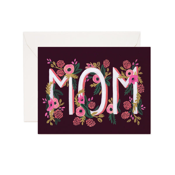 Rosy Blooms 'Mom' Card