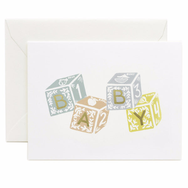 Baby Blocks Card - Northlight Homestore