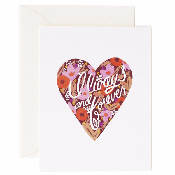 Always and Forever Heart Card