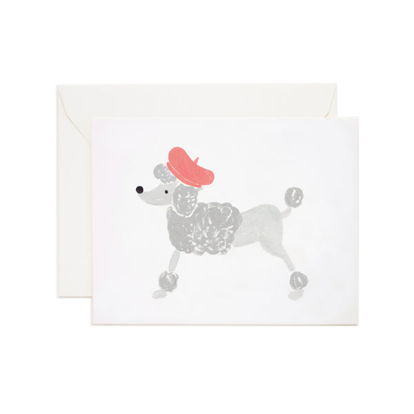 French Poodle Card