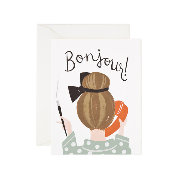 Bonjour Card Boxed Set-8 Cards - Northlight Homestore