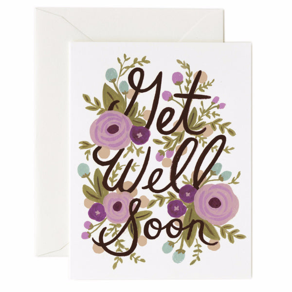 Get Well Soon Floral Card - Northlight Homestore