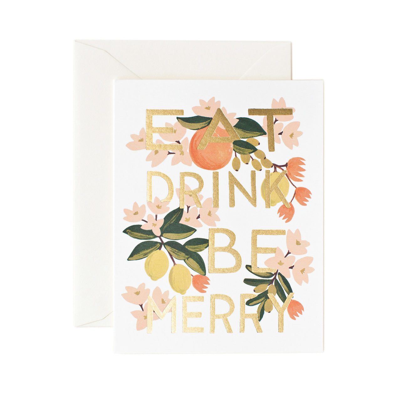 Eat Drink & Be Merry Card - Northlight Homestore