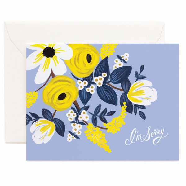 Violet Floral I'm Sorry Card - Northlight Homestore