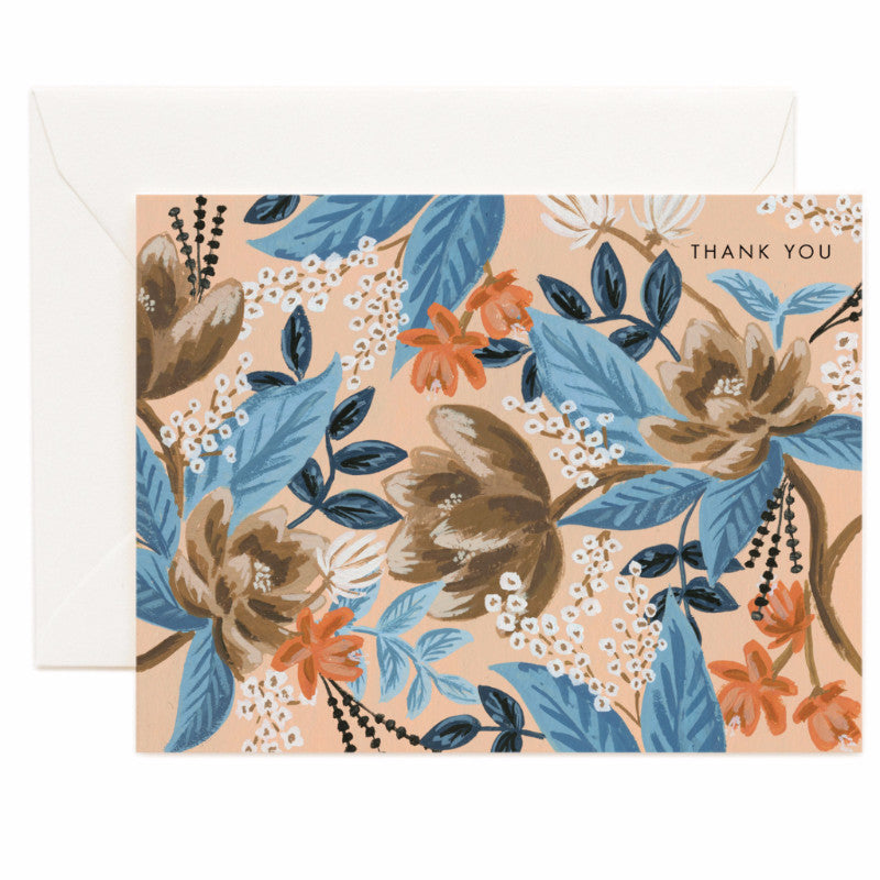 Blue Floral Thank You Card - Northlight Homestore
