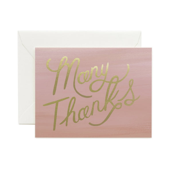 Ombre Many Thanks - Boxed Set 8 Cards - Northlight Homestore