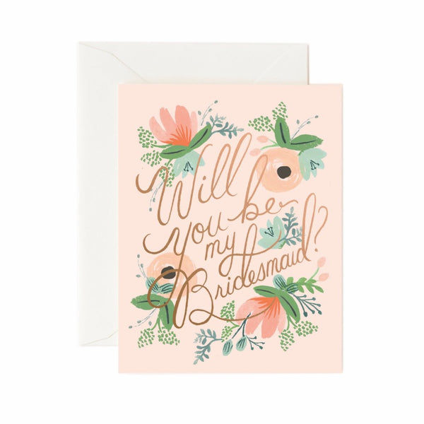 Blushing Bridesmaid Card Boxed Set - Northlight Homestore
