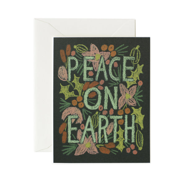 Colorful Peace on Earth Card - Northlight Homestore