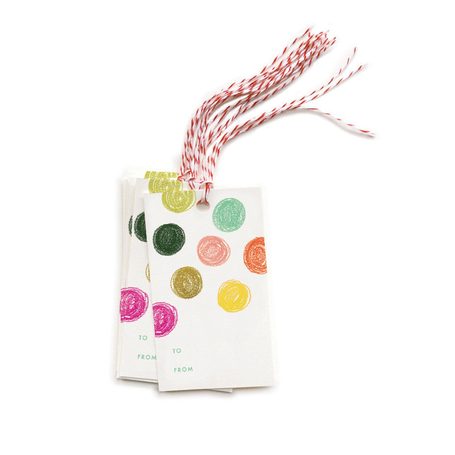 Party Dots Gift Tags - Northlight Homestore