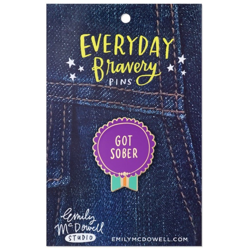 Got Sober Enamel Pin - Northlight Homestore