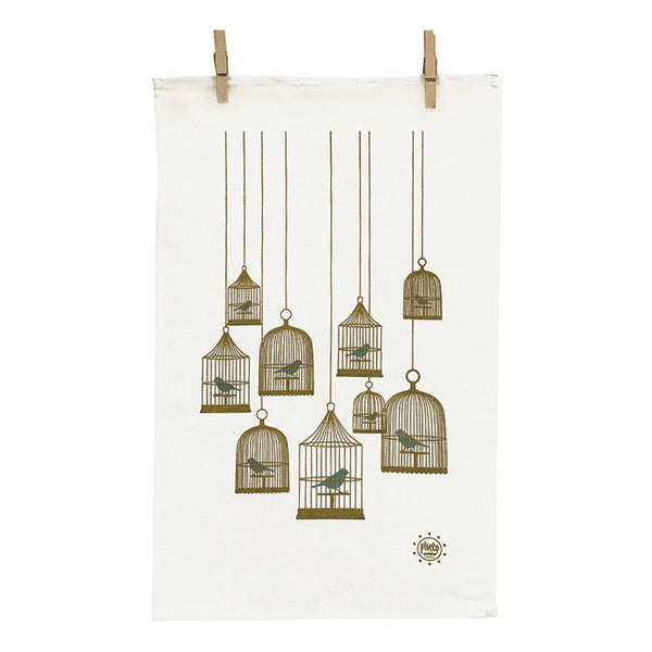 Birdcage Small Linen Kitchen towel