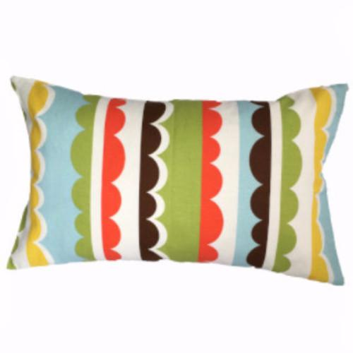 Krinolin Green/Multi 40x60cm Linen/Cotton Cushion Cover
