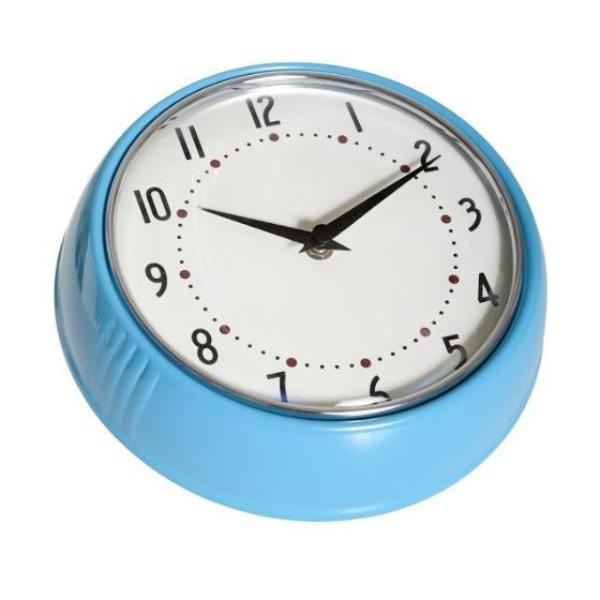 1950's Swedish Design Turquoise Wall Clock - Northlight Homestore