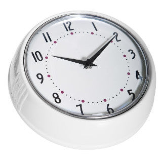 1950's Swedish Design White Wall Clock