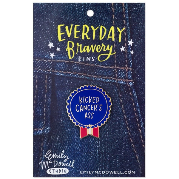 Kicked Cancer's Ass Enamel Pin - Northlight Homestore