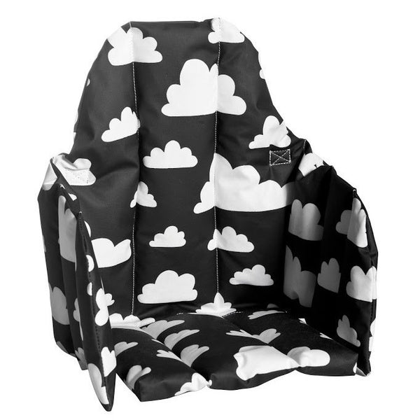 Moln Cloud Black Seat Cushion for High Chair - Northlight Homestore