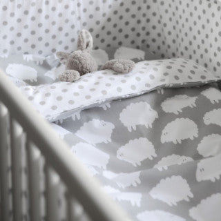 Lamb Grey Children's Bed Set (Pram) 70cm x 80cm