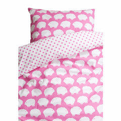 Lamb Pink Crib Bed Set 130cm x 100cm - Northlight Homestore