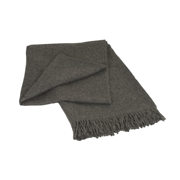 Luxury Grey 100% Baby Alpaca Throw