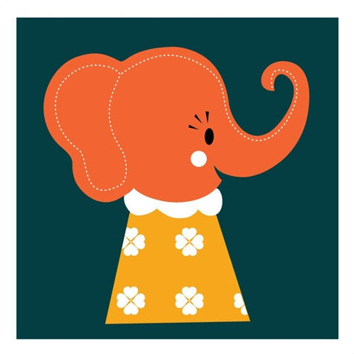 Marionette - Elle Elephant Greetings Card - Northlight Homestore