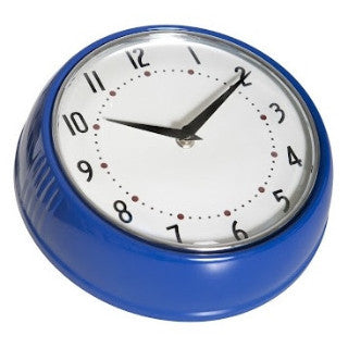 1950's Swedish Design Blue Wall Clock