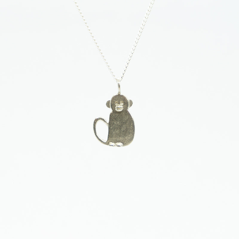 Monkey Pendant With Chain