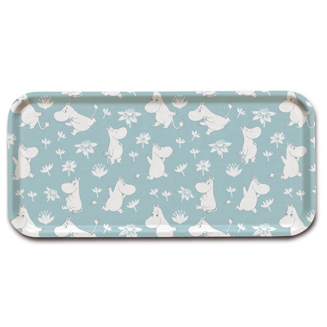 Moomin 15x32cm Blue Birchwood Tray