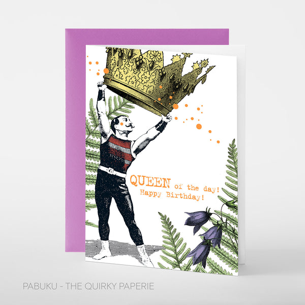 Birthday Queen Card - Northlight Homestore