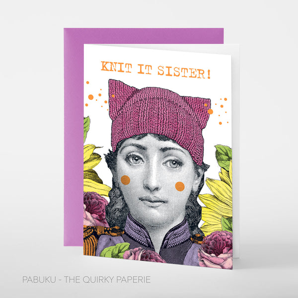 Knit It Sister! Card - Northlight Homestore