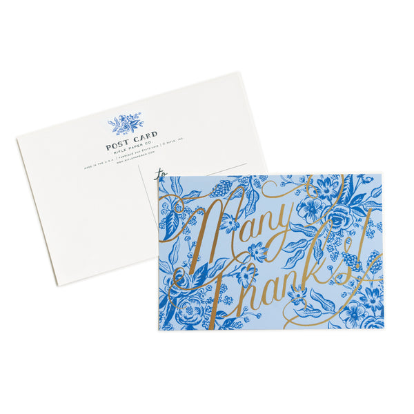 Toile Thank You Postcards - Northlight Homestore