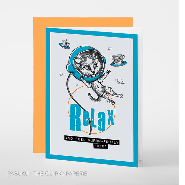 Relax And Feel Purrr-fectly Free Card