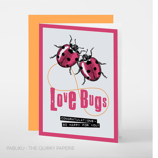 Love Bugs Congratulations Card