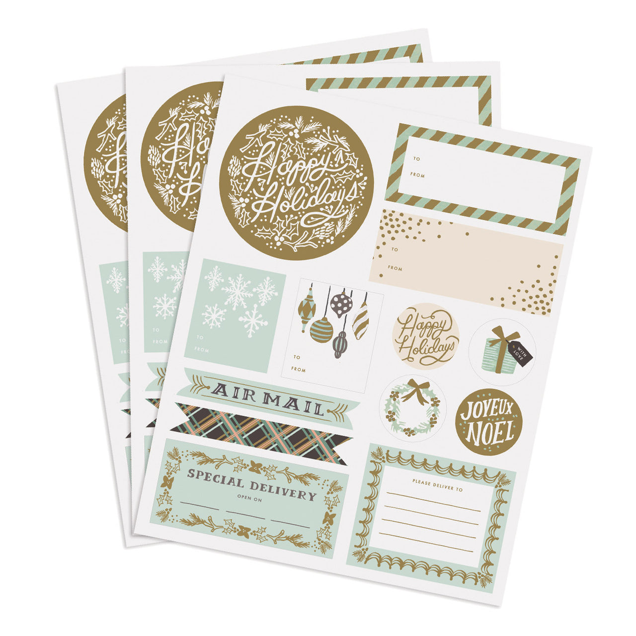 Holiday Wonderland Stickers & Labels - Northlight Homestore