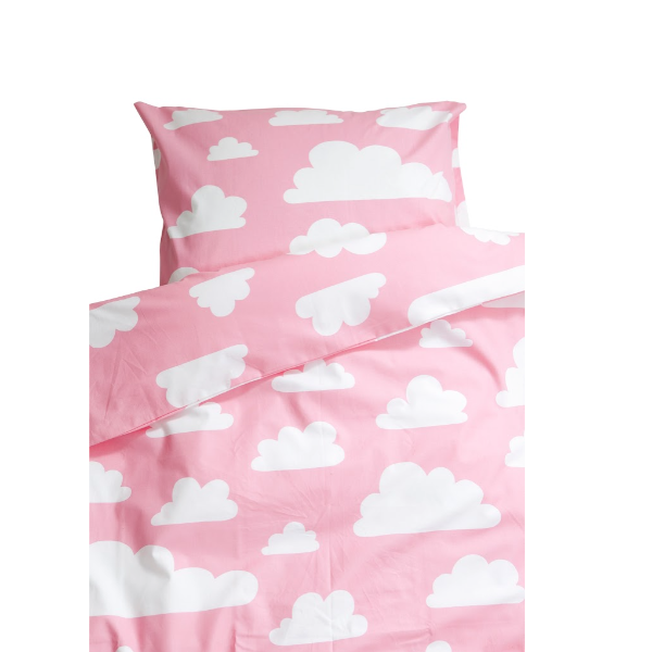 Moln Cloud Pink Pram Bed Set 70cm x 80cm - Northlight Homestore