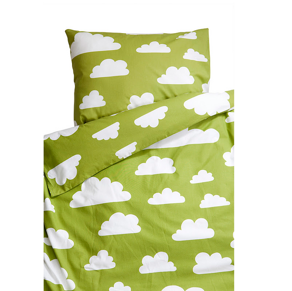 Moln Cloud Green Pram Bed Set 70cm x 80cm - Northlight Homestore