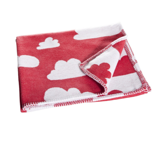 Moln Cloud Red Children's Blanket - Northlight Homestore