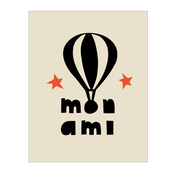 Paris - Mon Ami Greetings Card - Northlight Homestore