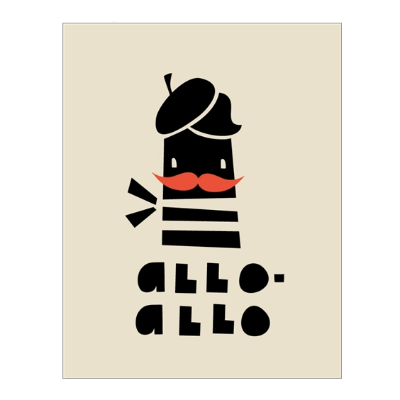 Paris - Allo Allo Greetings Card - Northlight Homestore