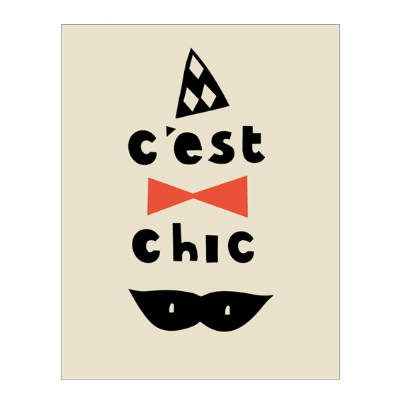 Paris - C'est Chic Greetings Card - Northlight Homestore