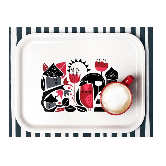 Woodland Owl's House Tray