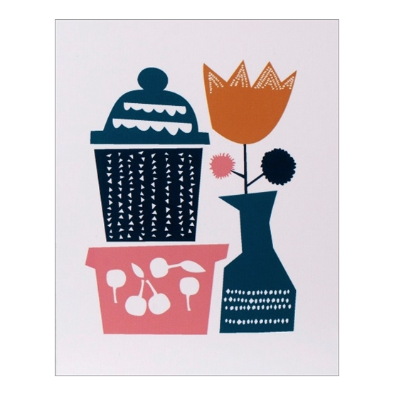 Folk & Flora - Brick-A-Brack Greetings Card