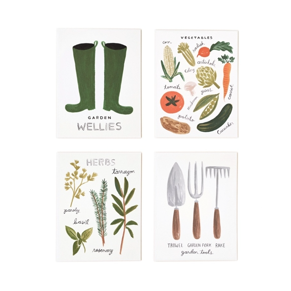 Assorted Home Grown Garden Set - 8 Cards - Northlight Homestore