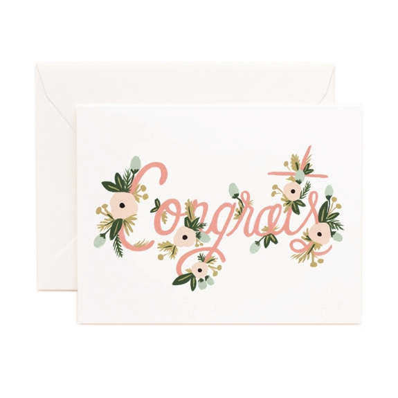 Congrats Floral Card - Northlight Homestore