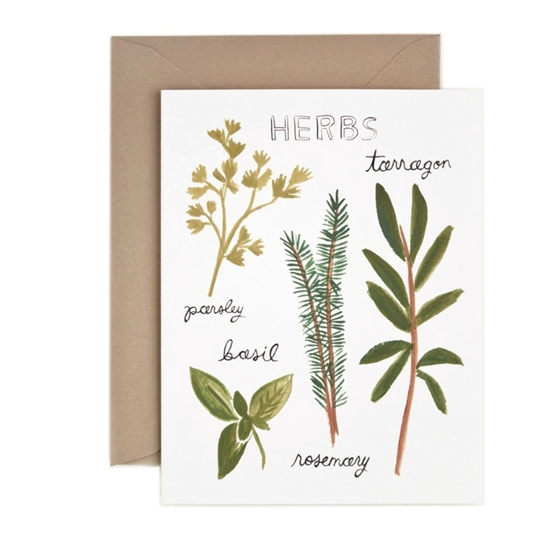 Herbs Card - Northlight Homestore