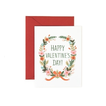 Valentine's Day Garland Card