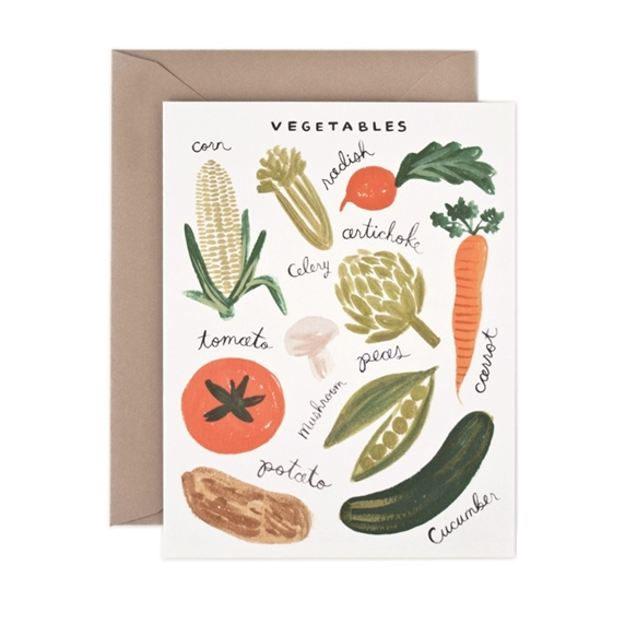 Vegetables Card - Northlight Homestore