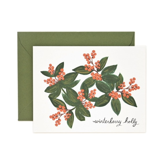 Winterberry Holly Card - Northlight Homestore